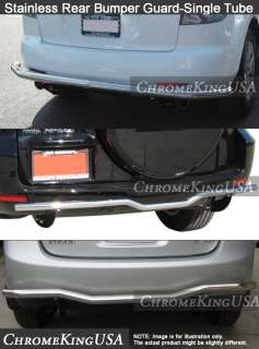 2010 2012 Hyundai Santa Fe Stainless Rear Bumper Guard Single Tube Bar