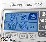 Janome Memory Craft 200E Embroidery Machine w/Monograms