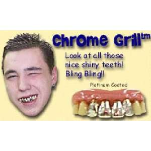 Billy Bob Teeth   Chrome Grill   Joke / Gag Gift Toys
