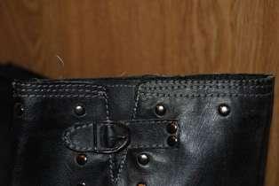 Unionbay Faux Leather Black Biker/Motorcycle Boots   8.5