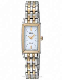 NEW SEIKO SUP028 LADIES TWO TONE STAINLESS SOLAR WATCH