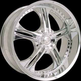 26 inch 6 lug Chevy Ford Expedition Wheels Rims DUB TIS