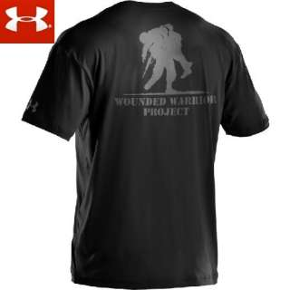New Under Armour WWP Wounded Warrior Project T Shirt Black 1217627