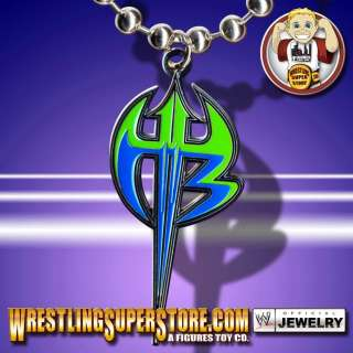 WWE TNA Jeff Hardy Purple & Green Logo Pendant
