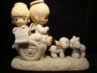 Precious Moments Angels In Chariot EXTREMELY RARE $365V