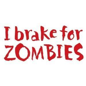 Zombies   6 RED Vinyl Decal Window Sticker by Ikon Sign Automotive