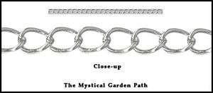 32ft Spool Silver Metal Bulk Curb Chain 4.2x5.2mm Links
