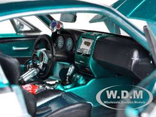 MUSTANG GT TEAL/WHITE CUSTOM 124 DIECAST MODEL CAR BY MAISTO 31094