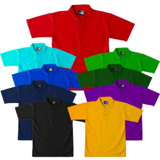 BOYS MEN POLO SHIRT SCHOOL UNIFORM RED WHITE BLACK 3090