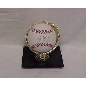 Michael Young Hand Signed Autographed Texas Rangers Official Major