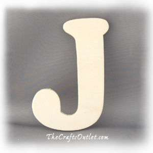 Letter J Plywood unfinished wood home Decor