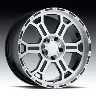 16 x8 V Tec 372 Raptor Matte Black 5 6 8 Lug Wheels Rim
