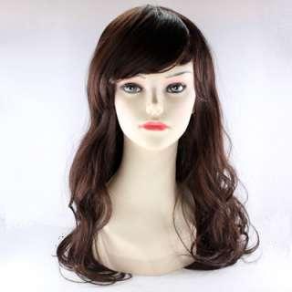 Fashion brown curl womens Fake wig Hair like real hair MI66