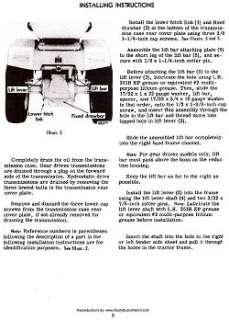 Cub Cadet 3 point Hitch for Model 86 thru 149 Manual