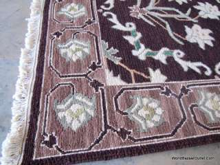 3x8 flat weave Soumak sumak sumack Rug Brown green fw38 Spectacular