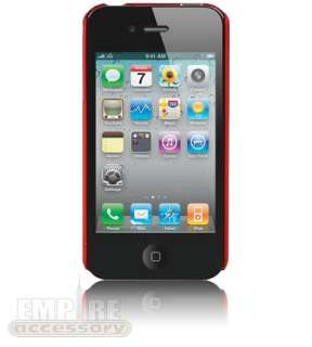RED ULTRA THIN SLIM HARD CASE COVER for iPhone 4 4S Att Verizon Sprint