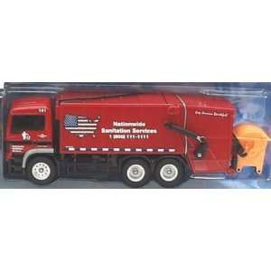 Action City Red Garbage Truck with Gray Dumpster: Toys & Games