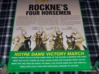 Rocknes Four Horsemen Notre Dame Football 36 X 12 Artwork ***ULTRA