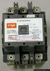 Federal Pacific 4104 Contactor, 100 Amp, 3 Pole
