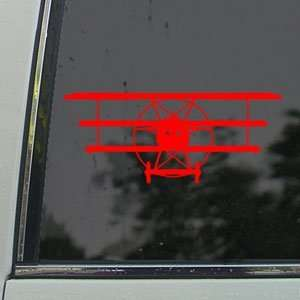 Fokker DR1 Red Baron WWI German Red Decal Car Red Sticker