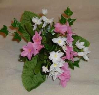 Small Pink White Silk Flowers Flower Bouquet 4870