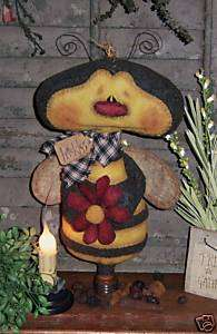 Primitive Bumble Bee Garden Bug Ornie Doll Pattern #488