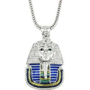 Hip Hop Bling Rodium Plated King Tut Pharaoh Pendant