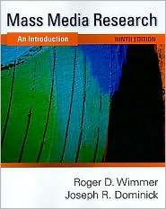 Mass Media Research An Inroducion, (143908274X), Roger D. Wimmer