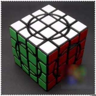 DaYan+MF8 No.2 4x4x4 Crazy Tiled Rubiks Cube Black II