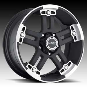 17 Vision Warlord Black Wheels Rims 5x127 Jeep Wrangler JK Set of