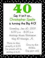 Personalized 30th, 40th, 50th Birthday Invitations
