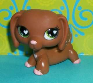 Littlest Pet Shop~#556 VALENTINE DACHSHUND PUPPY Heart Eyes & Tattoo