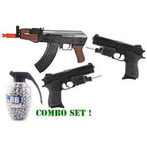 Combo Set Spring AK47 Stubby Killer FPS 240 High Capacity Magazine, 2
