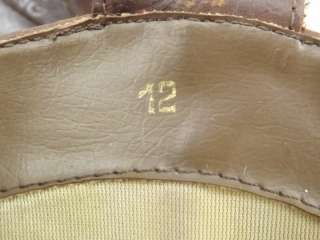 Mens cowboy boots dark brown vintage 80s Wild Pair 12 D western