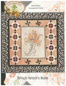Which Witchs Boot Quilting & Embroidery Pattern Hawkey