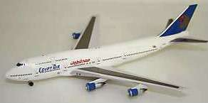 Aviation 400 EGYPT AIR Boeing 747 300 Combi + Stand NEW