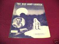 1946 THE OLD LAMP LIGHTER PERRY COMO PIANO SHEET MUSIC
