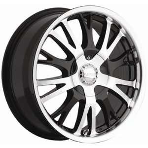Akuza Drift 22x9.5 Machined Black Wheel / Rim 6x135 with a 35mm Offset