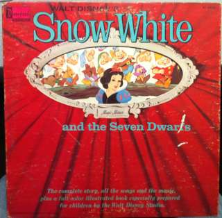 WALT DISNEY snow white & seven dwarfs LP MAGIC MIRROR