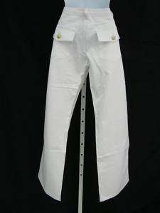 CHRISTOPHER DEANE White Denim Trousers Jeans Pants Sz 2 $225