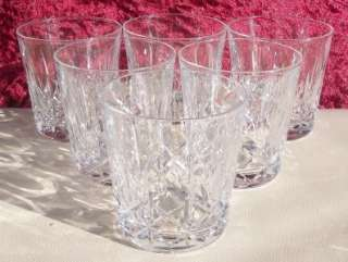 Webb KINGSWINFORD 6 crystal whisky tumblers glasses   etched