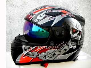 Masei 830 Skull DOT motorcycle helmet
