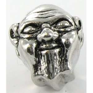 Silver Plated Boeddha Face Charm Bead for Pandora/Troll/C Jewelry