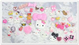50 PCS D2 BIG HELLO KITTY BARLIE DECO Resin Flatback Cabochon