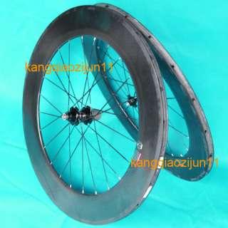 new 700c 88mm Rim Carbon 3K Tubular Road bike Wheelset 20/24h Novatec