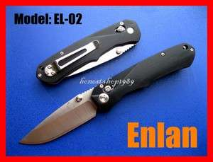 New ENLAN EL 02 Axis Lock Steel Folding Blade 88mm Knife