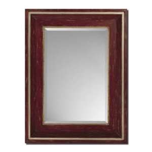 Paragon Distressed Red & Gold Wall Mirror