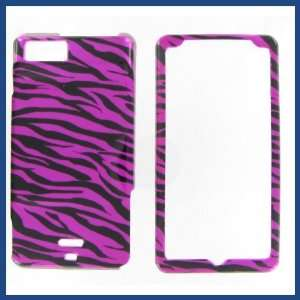 MB870 DROID X2 Zebra on Hot Pink Hot Pink/Black Protective Case