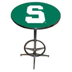 Michigan State Spartans NCAA Team LOGO Chrome Pub Table