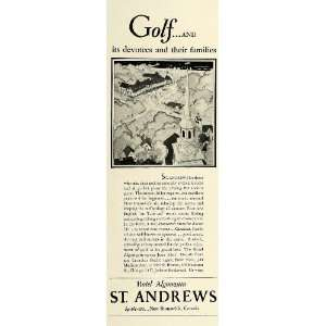 1929 Ad St Andrews Hotel Algonquin Brunswick Canada Golf Building City